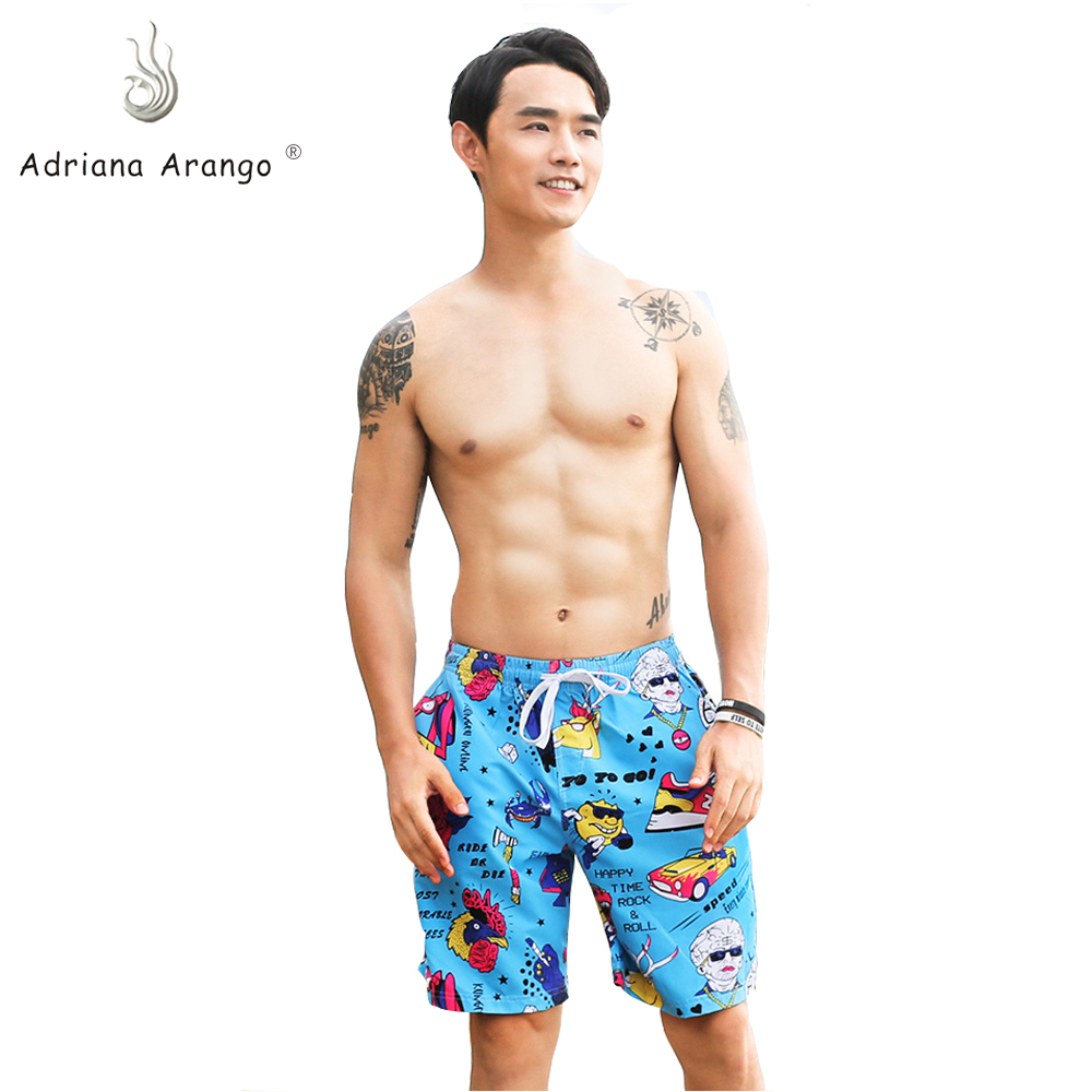 Adriana Arango 2019  New Men's Beachwear Cool Board Shorts Quick Dry Watersport Swim Trunks Summer Beach Shorts
