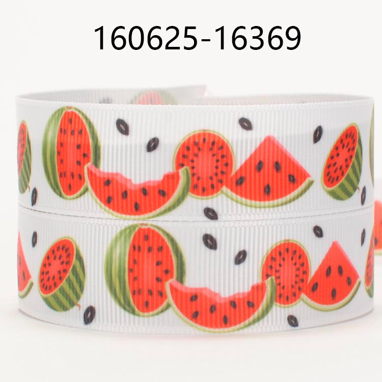 NEW Sales 50 Yards Sweet Watermelon Pattern Printed Grosgrain Ribbon Free Shipping