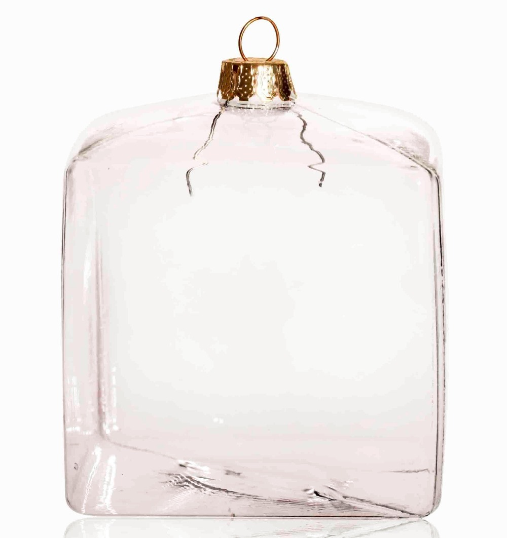 Envío libre bricolaje decoración transparente Navidad ornamento ...