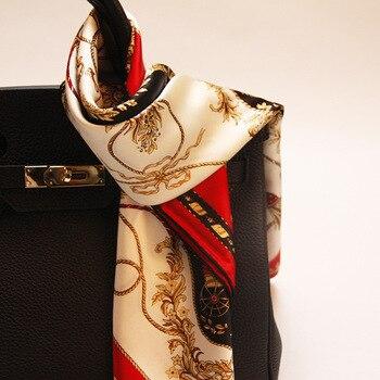 Роскошный Красный перевозки чистых шелковый шарф большие размеры квадратный набивным рисунком шелковый шарф для женщин сумочка декоратив...