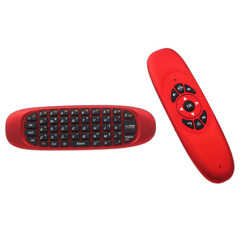Mini Wireless Keyboard Air Mouse Remote Control For Android TV Box Red