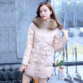 2016 Winter Jacket Women Genuine Luxury Brand Parka Large Raccoon Fur Collar Thicken Warm Fur Liner Outwear  Parkas