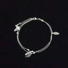 Silver Ball Charms Women's Anklet