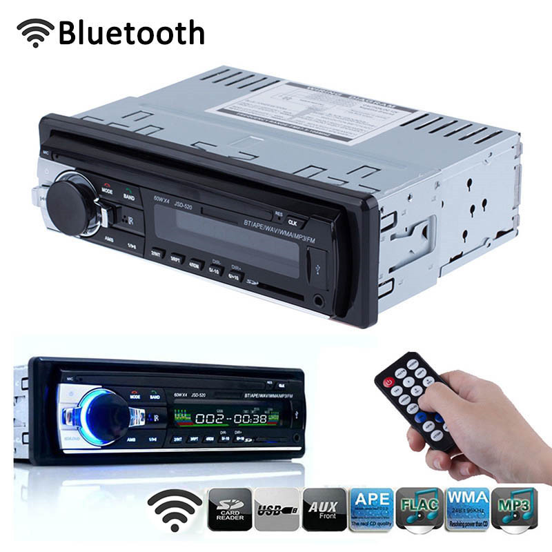 High Quality Car Radio 12V Bluetooth Car Audio Stereo In-dash 1 Din FM Aux Input Receiver SD USB MP3 WMA Car Radio Player