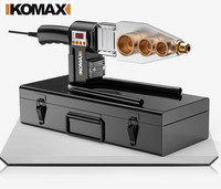 KOMAX New 20 32mm 220V AC plug 800W machine for welding pvc pipe ppr tube welder with digital display device for plastic