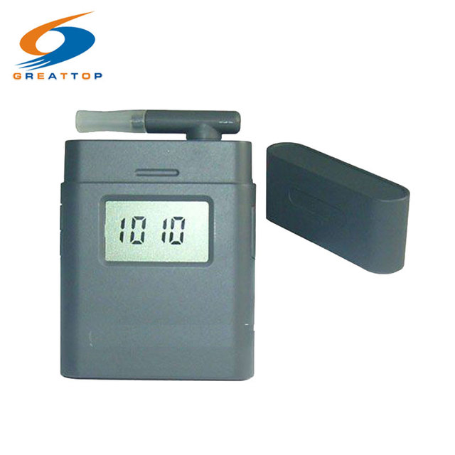 Free shipping! 5pc/lot 3-digit LCD Alcohol Tester Breathalyzer with Clock Rotating breath inhaler