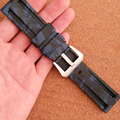 Watch accessories for Panerai Panerai strap rubber watch with movement silicone strap 22 / 24mm blue camouflage