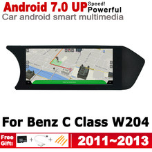 Layar HD Android untuk Mercedes Benz C Class W204 2011 ~ 2013 NTG Mobil GPS Navi Peta Stereo Gaya Asli multimedia Player Radio(China)