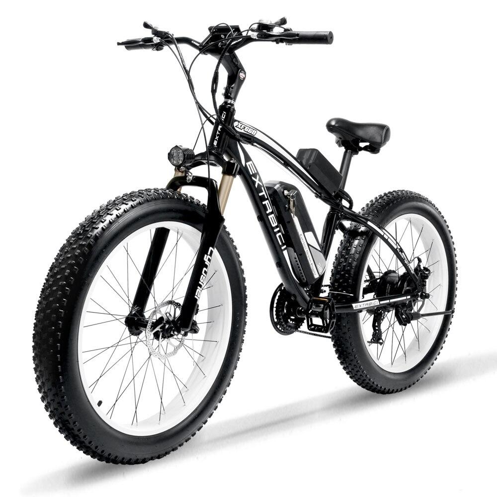 Cyrusher XF660 1000 W vélo électrique avec télécommande Casier guidon réglable Fat Tire e-vélo 21 Vitesses Vélo Électrique