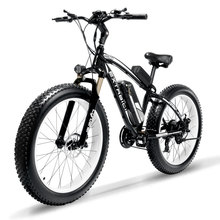 Cyrusher XF660 1000W Electric Bike with Remote Control Locker Adjustable Handlebar Fat Tire e-bike 21 Speeds Bicycle