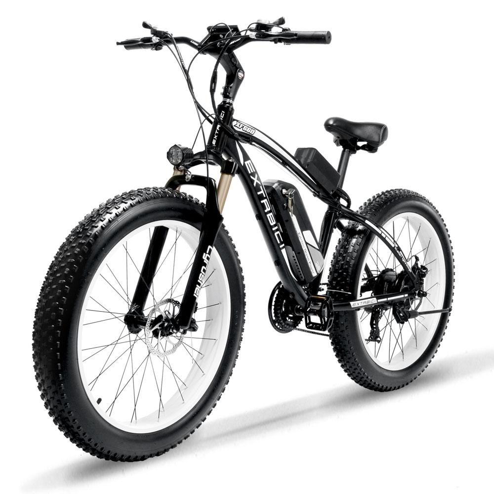 Locker Cyrusher XF660 1000 W Bicicleta Elétrica com Controle Remoto Ajustável Guiador Gordura Pneu de bicicleta e-21 Velocidades Elétrica bicicleta