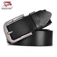 SWORDFISH Jeans Belts Designer Belt Men High Quality Cow Genuine Leather Belt Metal Buckle Trouser Strap