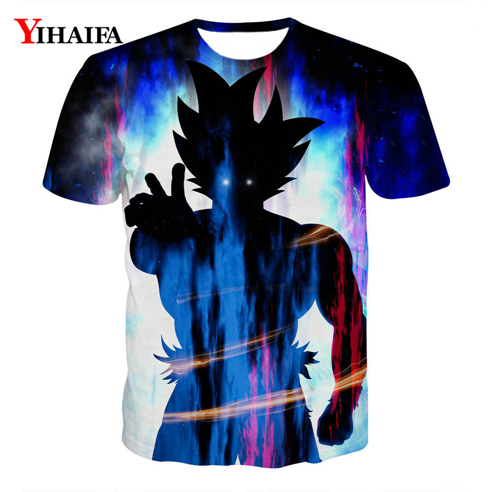 Newest Men Women T shirt 3D Print Sky Galaxy Goku Son Dragon Ball Z Anime Summer Graphic Tees Unisex Casual Tee Shirts(China)