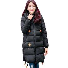 Женщины Зима Утолщение Парки женщин Ватные Куртки Верхняя Одежда Мода Хлопка-ватник на Средние и Длинные Пальто