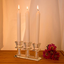 Crystal Clear 3 Head Candle Holder Home Decoration