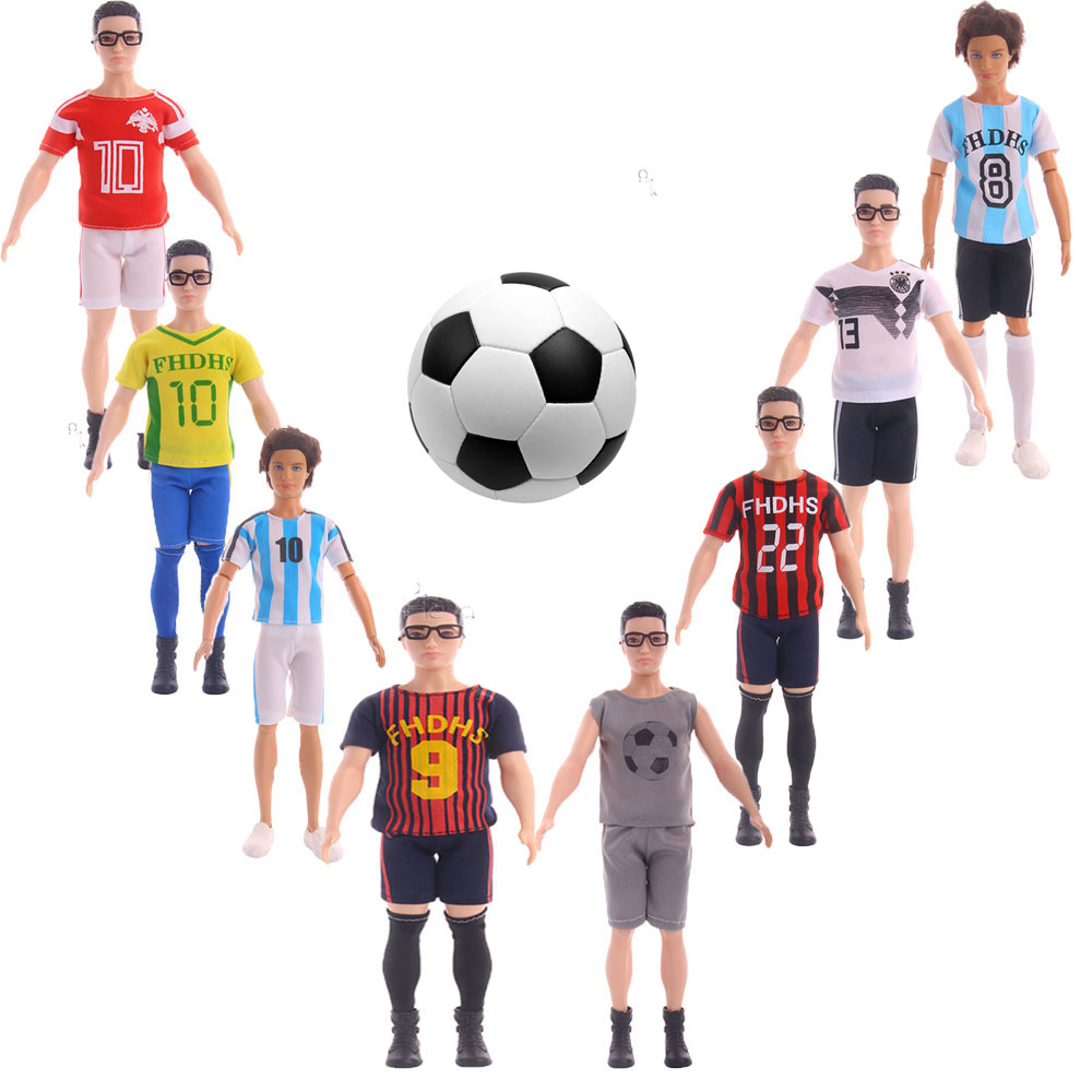 Fleta 2018 World Fashion Soccer Sports Cup Football Player Doll suit fit ben doll clothes