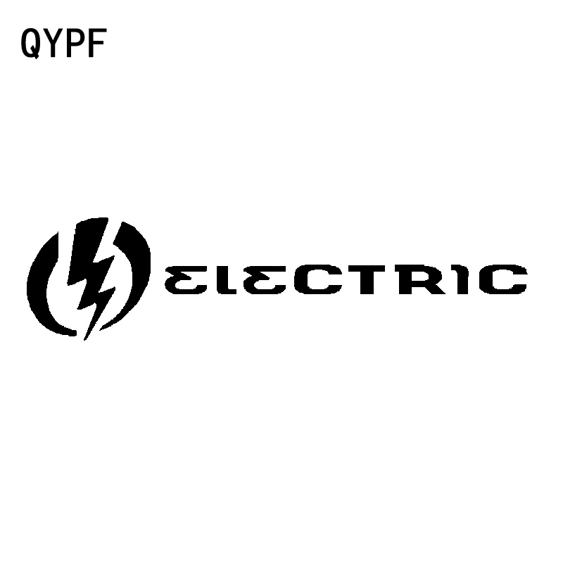 QYPF 17.7cm*4.4cm Magical Focus On The Future Combined With Lightning ELECTRIC Vinyl Car Sticker Delicate Decal C18-0936