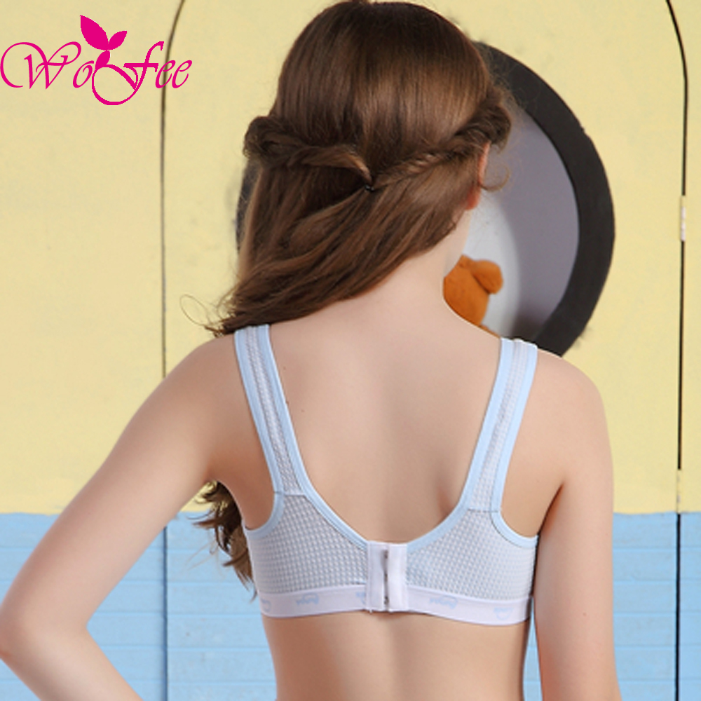 339e848939b WoFee Young Girls One Piece Thin Cotton Breathable Sleeping Bras With Three Back  Hooks B1173-in Bras from Mother & Kids on Aliexpress.com | Alibaba Group
