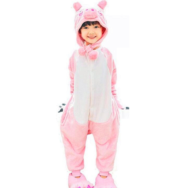 60523551b09c Animals Cosplay milk cow Pink Pig Onesie Pajamas Cartoon Cute ...