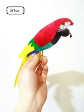 cute real life red&yellow parrot model foam&feather bird gift about 30cm xf0086