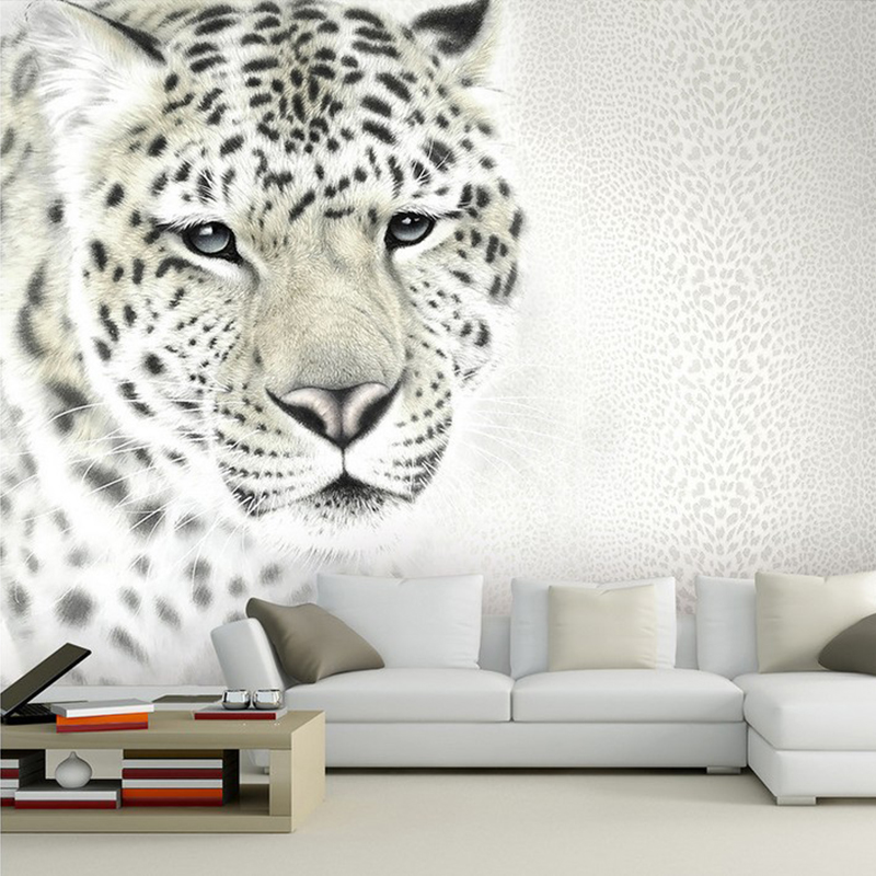 Leopard Tiger Animal Leather 3D Papel Mural Wallpaper for Living room Background 3d Wall Photo Murals Wall paper 3d Wall Sticker custom 3d photo wallpaper mural nordic cartoon animals forests 3d background murals wall paper for chirdlen s room wall paper