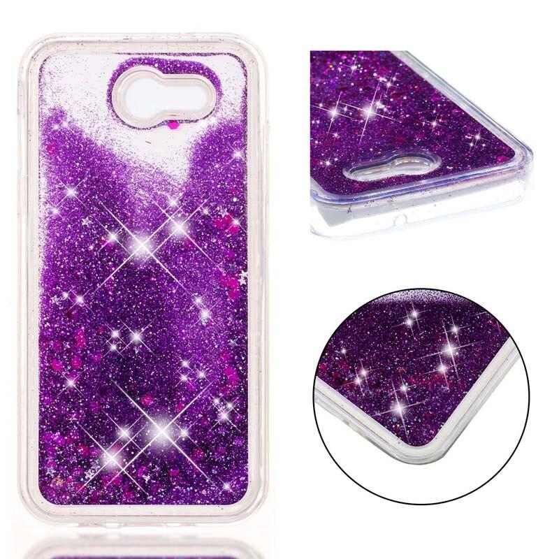 Cheap Sale For Samsung Galaxy J3 Emerge J3 Prime 2017 Glitter Stars Dynamic Liquid Quicksand Tpu Cover Phone Case Sm-j327p J327t Back Cases Half-wrapped Case