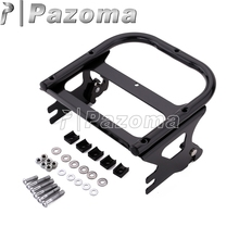 Motorcycle Black Detachable Two Up Tour Pak Pack Mounting Luggage Rack for Harley Road King Electra Glide Standard 1997-2008