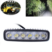 CN RU STOCK 2pcs 18W DRL LED Work Light 10 30V 4WD 12V For Off Road