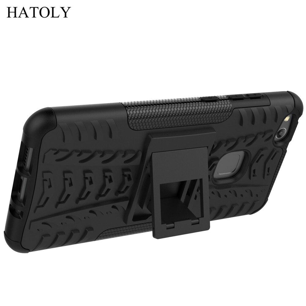 Qapaq üçün Huawei P10 Lite Case Anti-knock Ağır Dəstəkli - Cib telefonu aksesuarları və hissələri - Fotoqrafiya 2