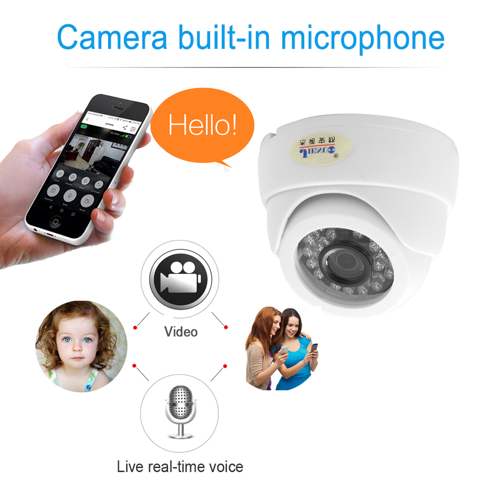 Image 2 - Ip Camera Wifi 1080P 960P 720P Cctv Surveillance Video Security Wireless Audio IPCam Indoor Wired Cam Infrared Home Dome Camera-in Surveillance Cameras from Security & Protection