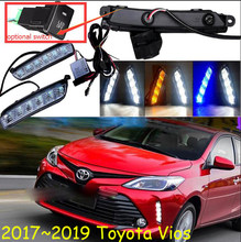 2017,2018, Vios Mistlamp, Auto Accessoires; Gratis Schip! vios Overdag Licht, Auto Styling, Led, Corolla, Camry, Hiace, Tundra, Sienna, Vios(China)