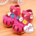Encantadores de los zapatos nuevo 2016 flores para bebé niños niñas princesa sandalias de verano #1752