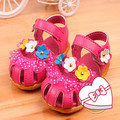 Lovely shoes new 2016 flowers for girls kids baby  princess  sandals for summer #1752