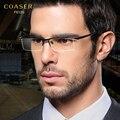 Marco de los vidrios hombres medio diseñador de la marca marco de las lentes titanium sin rebordes diseñador traje gafas de lectura óptica lentes prescpriton