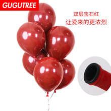 Decorate 50pcs 12inch red latex balloons wedding event christmas halloween festival birthday party HY-356