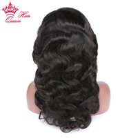Queen Hair Products Human Hair Full Lace Wig 100 Brazilian Human Remy Hair Body Wave Glueless