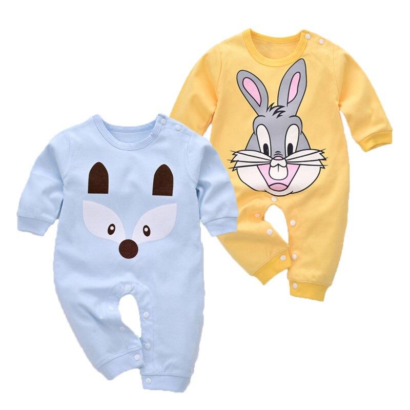 Cartoon Baby Rompers Jesień Baby Girl Clothes Cottonn Baby Boy - Odzież dla niemowląt - Zdjęcie 1