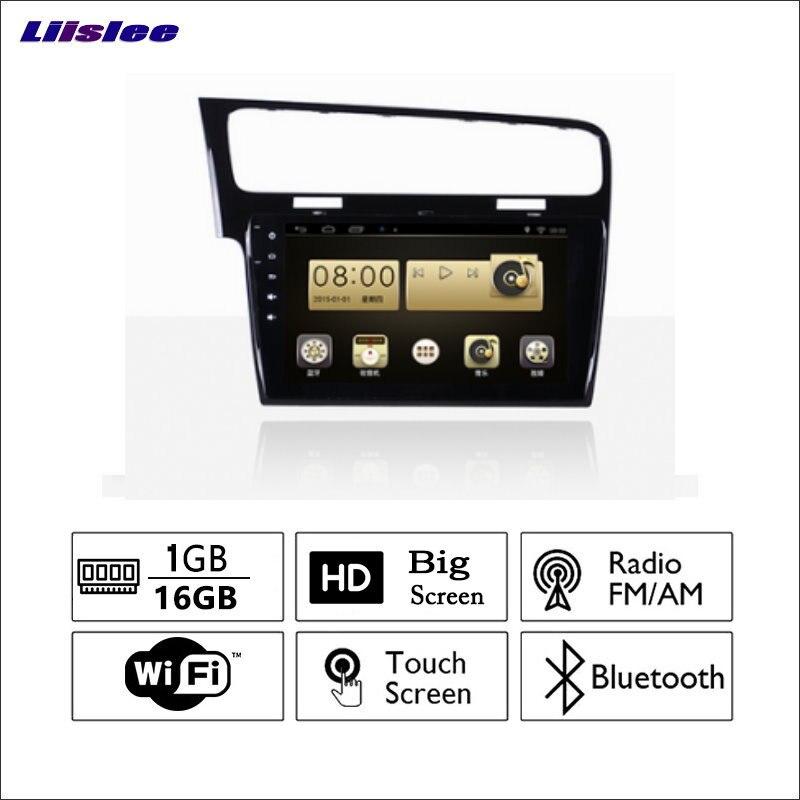 Liislee автомобиля Радио GPS аудио-видео мультимедийный плеер wiifi навигации Android Системы без cd dvd для Volkswagen VW Гольф 7 2012 ~ 201
