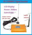 Pantalla lcd! WCDMA 2100 Mhz 3 G móvil de señal repetidor / aumentador de presión / amplificador wifi potenciador teléfono móvil repetidor de señal