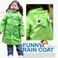 New Children Kids Boys Girls Rain Coat Children Raincoat Rainwear Rainsuit Waterproof Cartoon Animal Pattern Raincoat 1pcs