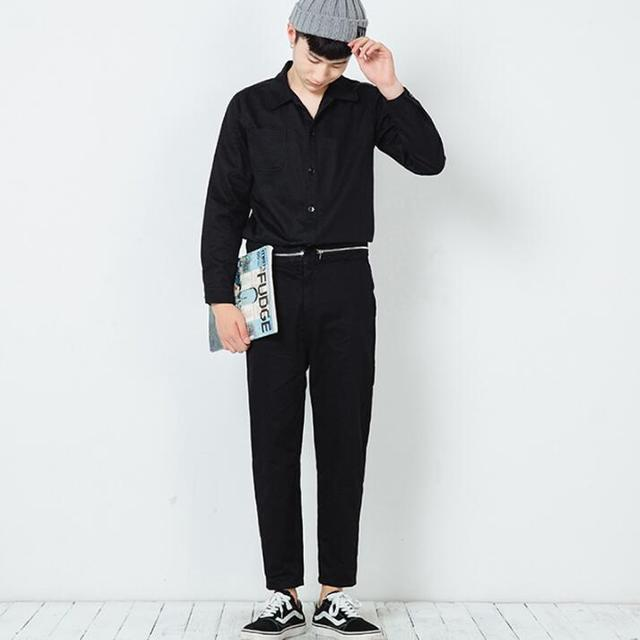 2016 Harajuku Cremallera de La Manera de Corea Pantalones Casuales Guardapolvos Hombre Mono Diseñador Unique Corredores Hombres Pantalones de Color Caqui Del Ejército Negro Verde