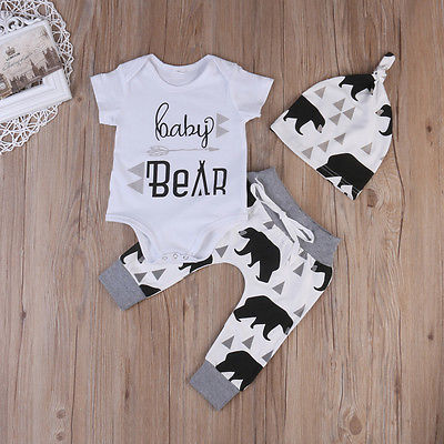 Summer-2017-Newborn-Baby-Boys-Girls-Kids-Clothes-Romper-T-shirt-Tops-Long-PantsHat-Outfits-Sets-1