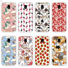 Case For Samsung Galaxy J5 2017 Soft Silicone TPU Cute Patterned Paint Phone Cover Coque For Samsung J5 2017 Cases(China)