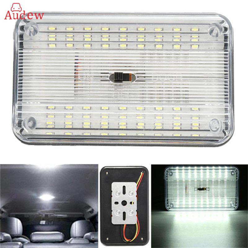 Universal 36SMD 12V White LED Car Light Source Interior Lights Ceiling Dome Roof Reading Lights Lamp On/Off Switch wljh 6x canbus w5w t10 led car light 9 led 2835 smd interior light dome map stepwell bulb courtesy cargo trunk lights source