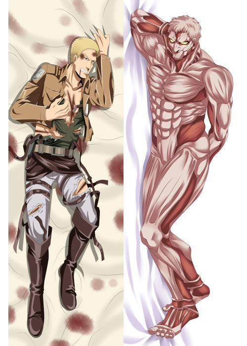 Us 17 59 20 Off Bl Anime Attack On Titan Reiner Braun Hugging Body Pillow Case Cover In Pillow Case From Home Garden On Aliexpress