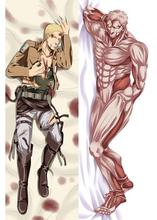 BL Anime Attack On Titan Reiner Braun Hugging Body Pillow Case Cover