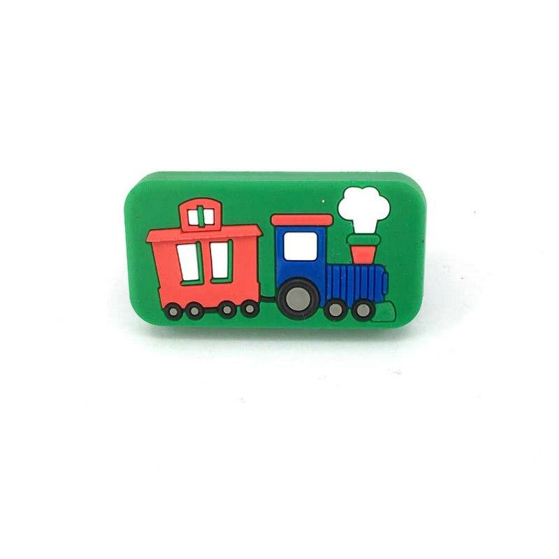 Single hole cartoon train knob kids drawer handles - Bedroom furniture handles and pulls ...