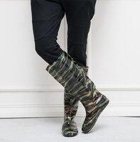 Camouflage 45CM échassiers de pêche PVC résistant à l'usure doux chasse poisson botte de pêche chaussures unisexe polyvalent échassiers de pêche bottes|Waders de pêche| |  -