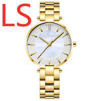 LS Print Logo Watches 2019 watch for Couple Fashion Sport Quartz Clock watches Unisex Top Brand Luxury Business watch waterproof