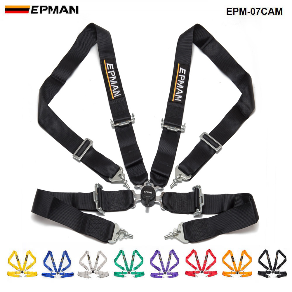 Car 4 Point Racing Safety Harness Camlock 3Strap Seat Belt For Honda EPM-07CAM